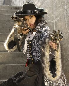 Meilyn Saychow as the Pirate Queen in designs by Alisa Kester. From Dark Beauty Magazine's 3rd Annual Steampunk Issue. Photo by Tyson Vick.