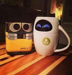 Imagen de wall-e, eva, and cup