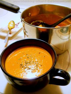 low fat roasted butternut squash soup ~ perfect for the cool nights of autumn...