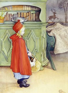 "Carl Larsson (1853-1919), ""Red Riding Hood"" 