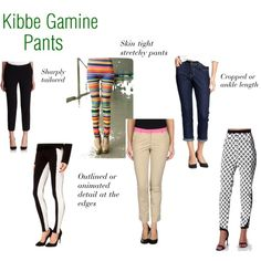 Kibbe Gamine Pants by chris753tine on Polyvore featuring True Royal, Kate Spade, Old Navy and Missguided