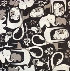 Jungle Jumble in Black Gray and White by Camelot Fabrics - 1/2 Yard - Fabric - Giraffe Fabric  - Camelot Fabric - Gray Fabric - Baby Fabrics on Etsy, $5.50