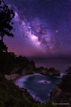 Milky Way by Ryan Engstrom on BigSur, California Beautiful Sky, Beautiful World, Beautiful Landscapes, Beautiful Images, Beautiful Things, Galaxy Wallpaper, Nature Pictures, Amazing Nature, Pretty Pictures