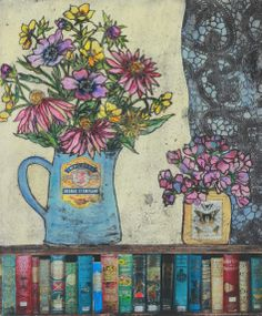 'Books and flowers'