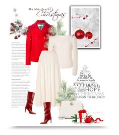 Red & White by bliznec on Polyvore featuring polyvore, fashion, style, CO, Golden Goose, Gucci and clothing