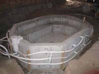 41 best jacuzzi ideas images hot tub room, bathroom, gardens How Make Hot Tub Lid concrete hot tub jacuzzi outdoor, diy hottub, backyard fireplace, homemade hottub, hot