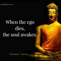 100 Inspirational Buddha Quotes And Sayings That Will Enlighten You - Page 2 of 10 When the ego dies, the soul awakes. Buddhist Teachings, Buddhist Quotes, Spiritual Quotes, Wisdom Quotes, Life Quotes, Ego Quotes, Christ Quotes, Buddha Quotes Inspirational, Buddha Wisdom
