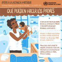World Health Organization (WHO) (OMS) publica 4 infografías en español sobre cómo dar apoyo a las madres que amamantan: ¡cercano, continuo y oportuno! ¿Qué pueden hacer los padres? #SemanaMundialLactanciaMaterna