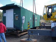 How to move a caboose - Crane lifting