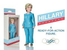 Miniatura de Hillary Clinton creada por impresión 3D para apoyar su carrera a la Casa Blanca