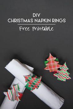 DIY Christmas Napkin Rings (For You!)