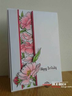 Card inspiration by Julie using Dee's Artsy Impressions - Blooming Buds Birthday Cards For Women, Handmade Birthday Cards, Greeting Cards Handmade, Pretty Cards, Cute Cards, Paper Cards, Folded Cards, Tarjetas Stampin Up, Altenew Cards