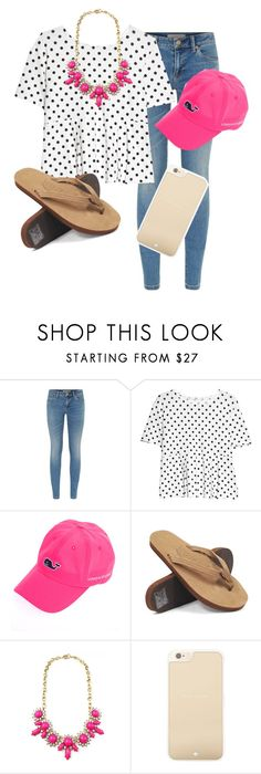 """""""I can't keep my eyes off of you"""" by so-preppy ❤ liked on Polyvore featuring Burberry, MANGO, Vineyard Vines, Rainbow Sandals and Kate Spade"""