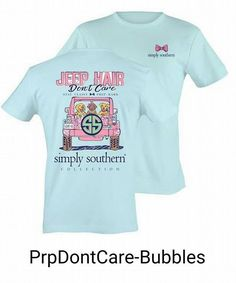 """There's nothing better than a """"Simply Southern"""" shirt to strike up a…"""