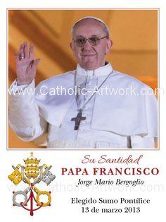 Catholic Artwork - Spanish Pope Francis Prayer Card, $0.35 (http://www.catholic-artwork.com/spanish-pope-francis-prayer-card/)