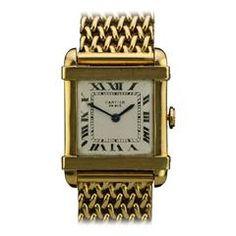 CARTIER Yellow Gold Cartier Chinese Wristwatch circa 1940