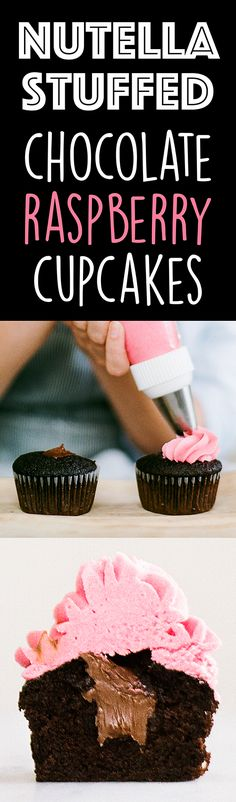 This cupcake recipe is PERFECT for Valentine's Day, Mother's Day, or any occasion! Everyone LOVES the surprise Nutella filling.