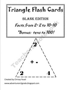 Triangle Flash Cards product from Everyday-Adventures on TeachersNotebook.com