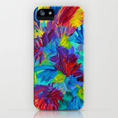 TUTTI+FRUTTI+-+Fruit+Punch+Floral+Bouquet+Flowers+Bright+Bold+Colorful+Painting+Romantic+Rainbow+iPhone+