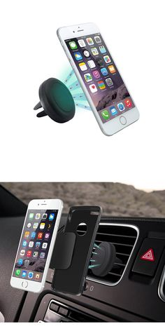 Auto Cell Phone Bracket Air Vent Phone Holder Strong Suction Cup Stand 2 Packs,Black Honsky Universal Metal Car Mount Compatible with Galaxy Google Nexus LG and More