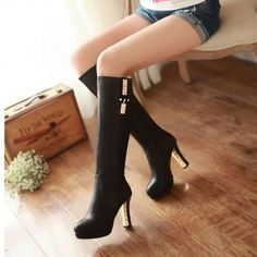 We Offer Top Good Quality Cheap Clothes For Women And Men Clothing Wholesaler, Get Affordable Clothing At Worldwide. Wedge Boots Tall, Knee High Boots, Chunky High Heels, Thick Heels, Wholesale Shoes, Wholesale Clothing, Boots 2017, Cheap Shoes Online, Walking Boots