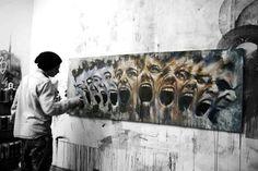 Artist: Antoine Stevens Urban Graffiti, Street Art Graffiti, Best Street Art, Floor Art, Gcse Art, Public Art, Urban Art, Amazing Art, Awesome