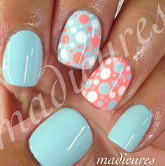 Cute spring and summer color #cutesummernails