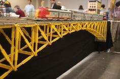 They had a wonderful town of legos set up. Lego City Train, Lego Trains, Lego Bridge, Van Lego, City Layout, Lego Jurassic World, Lego Ship, Lego Boards, Lego Modular