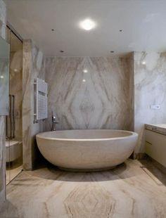 Sardinian Villa Bathroom | via ImmobilSarda | House & Home
