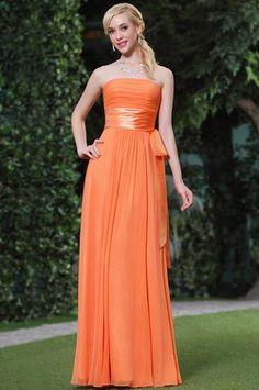 Vestidos de damas de honor color naranja
