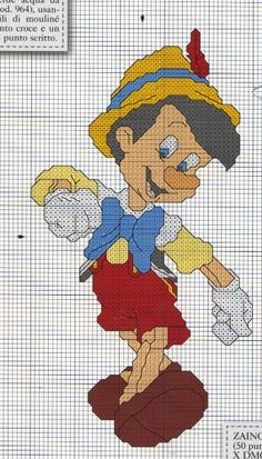Schema punto croce Pinocchio 2