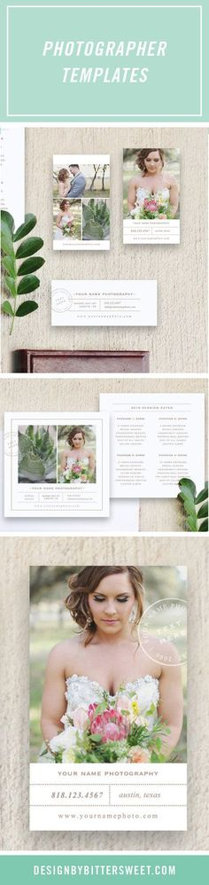Photographer Template Marketing Set by designbybittersweet Photography Tips, #photography photo editing