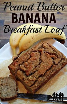 Peanut Butter Banana Breakfast Loaf ~ He and She Eat Clean - this is not a bread. it's an eggy breakfast loaf. I made muffins. they are tasty! Peanut Butter Banana Bread, Gluten Free Peanut Butter, Almond Butter, Coconut Oil, Protein Banana Bread, Protein Pudding, Almond Flour, Weight Watcher Desserts, Clean Eating Breakfast