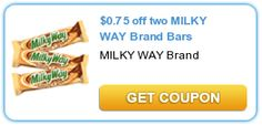 $0.75 off two MILKY WAY Brand Bars - New Printable Coupon = FREE Candy Bars at CVS