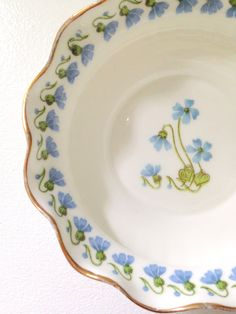 Vintage Bone China Blossoms Bowl Repurposed by MariasFarmhouse