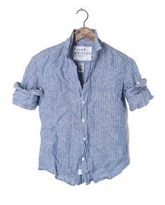 Womens Barry Linen Dot Shirt
