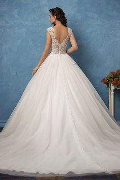 delicate open back a line wedding dresses amelia sposa 2017