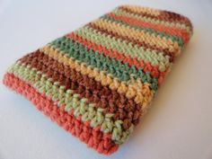 Fall Colors Striped Crochet Cell Phone Cover by HandmadeMichelle, $12.00