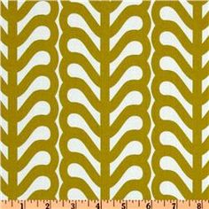 Outfoxed Fern Stripe Olive $9 per yard