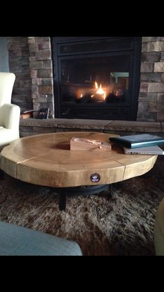 46 inch Ash coffee table with metal base