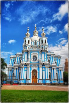Smolny Cathedral, St. Petersburg, Russia.I want to go see this place one day.Please check out my website thanks. www.photopix.co.nz