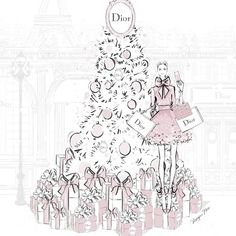 """Mi piace"": 6,578, commenti: 65 - Megan Hess (@meganhess_official) su Instagram: ""One more sleep!..... #DiorHoliday @dior"""