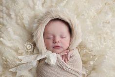 Baby Eskimo hat newborn prop hat, newborn Eskimo hat, newborn bonnet, newborn prop hat, newborn photography prop - MTO