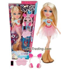 MGA Year 2015 Bratz Swappable Ears Series 10 Inch Doll Set - Remix CLOE with Piggy Ear Headphone, Smartphone and Hairbrush
