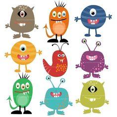Monster mash  Clip Art  - Set of 10