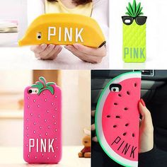 New 3D Cute Fruit Watermelon Pineapple Banana Case Cover For IPHONE 5S 6 Plus