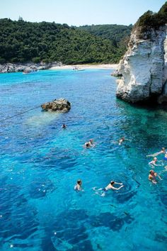 Swimming in Corfu ~ located just off the west coast of Greece. Enjoys mild clima… Swimming in Corfu ~ located just off the west coast of Greece. Enjoys mild climate and beautiful beaches Places Around The World, Oh The Places You'll Go, Places To Travel, Travel Destinations, Places To Visit, Around The Worlds, Dream Vacations, Vacation Spots, Athens Greece