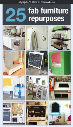 Amazingly repurposed furniture!