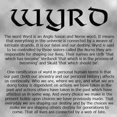 wyro` - shaping your destiny by every choice you make. All lives are connected by a Web of fate.