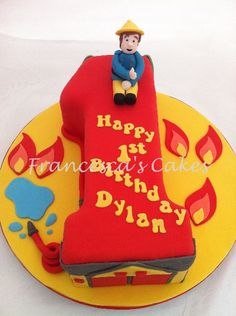 fireman sam birthday cake Fireman Sam Birthday Cake, Fireman Sam Cake, Fireman Party, Thomas Birthday, 3rd Birthday Cakes, Boy Birthday Parties, Little Boy Cakes, Cakes For Boys, Number Cakes